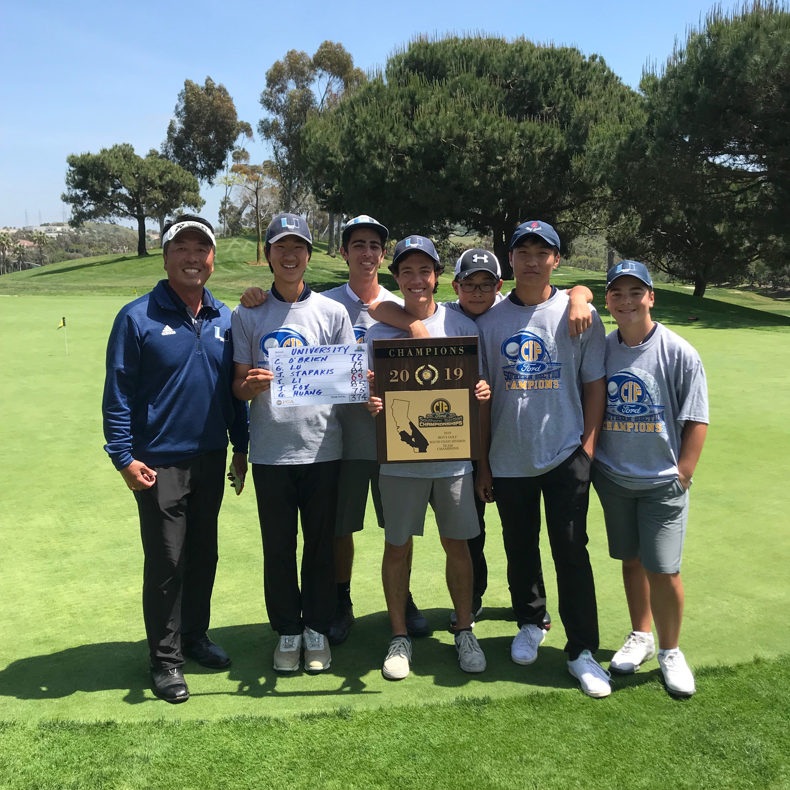 Boys Golf CIF winner