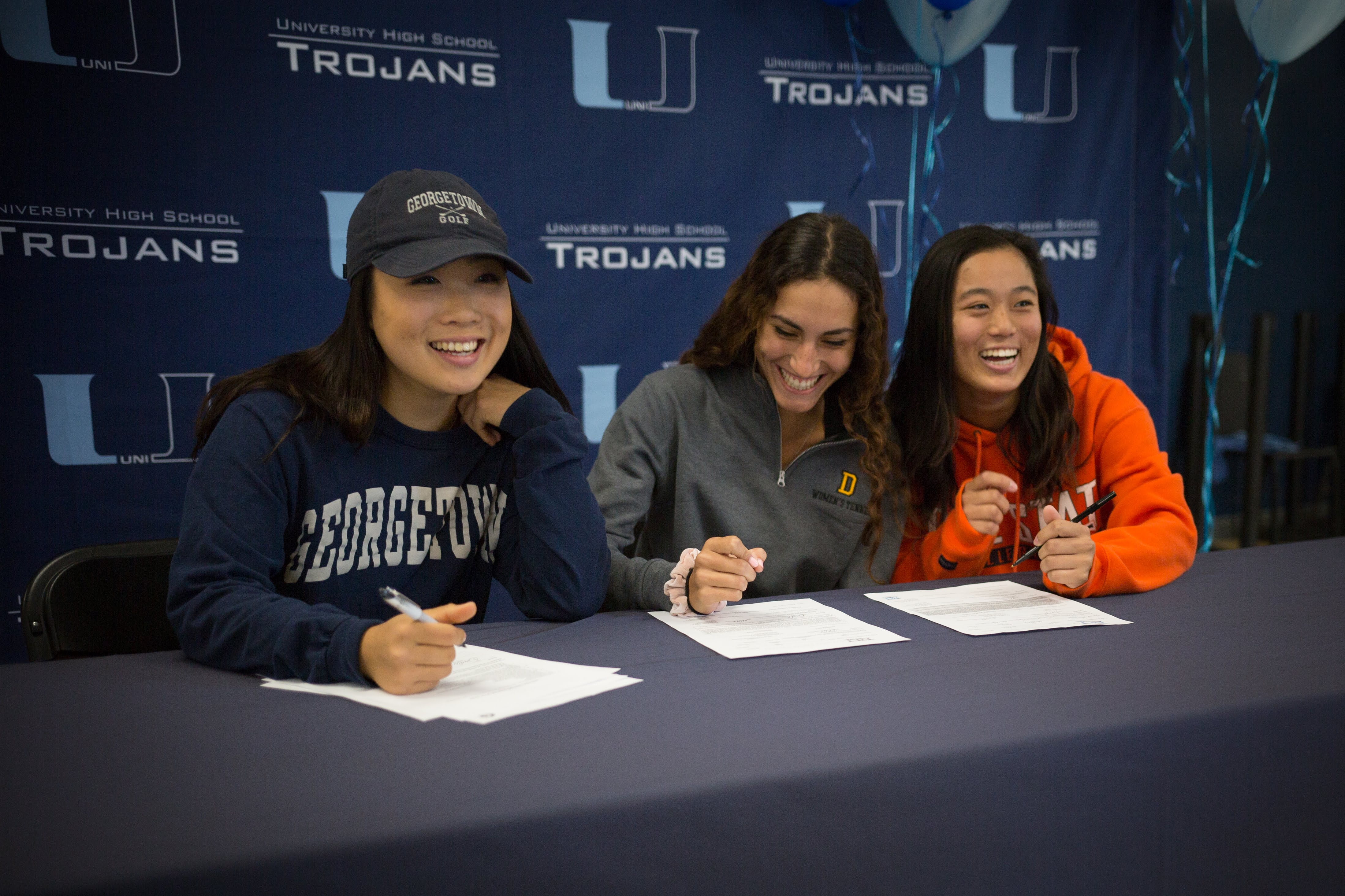 Uni Athletes Sign National Letters of Intent