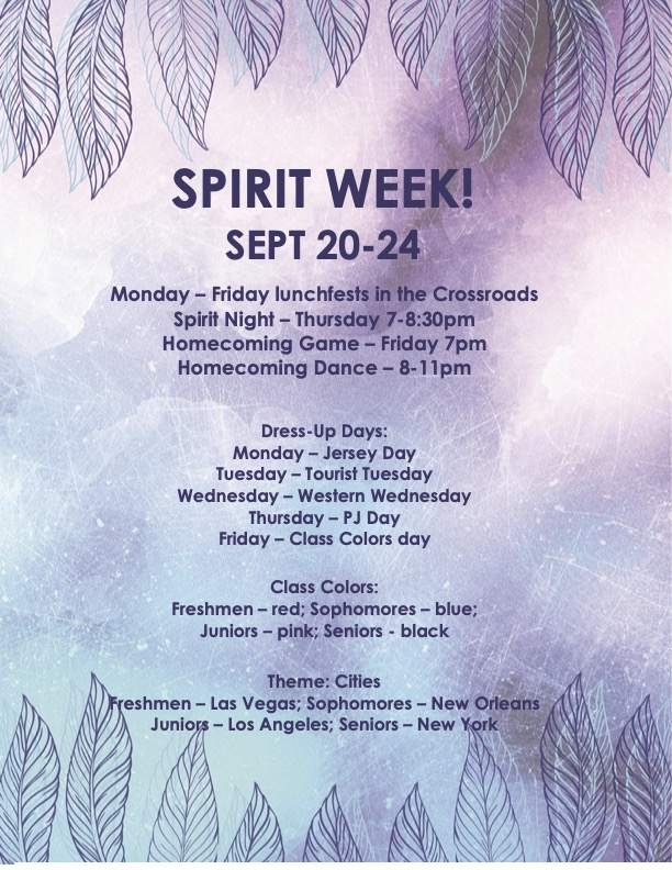 spirit week information