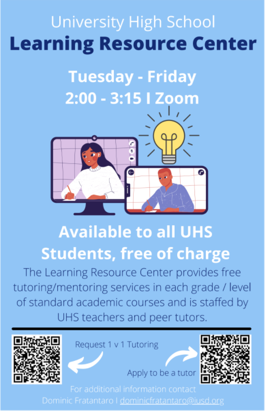 Learning Resource Center Flyer with QR Codes