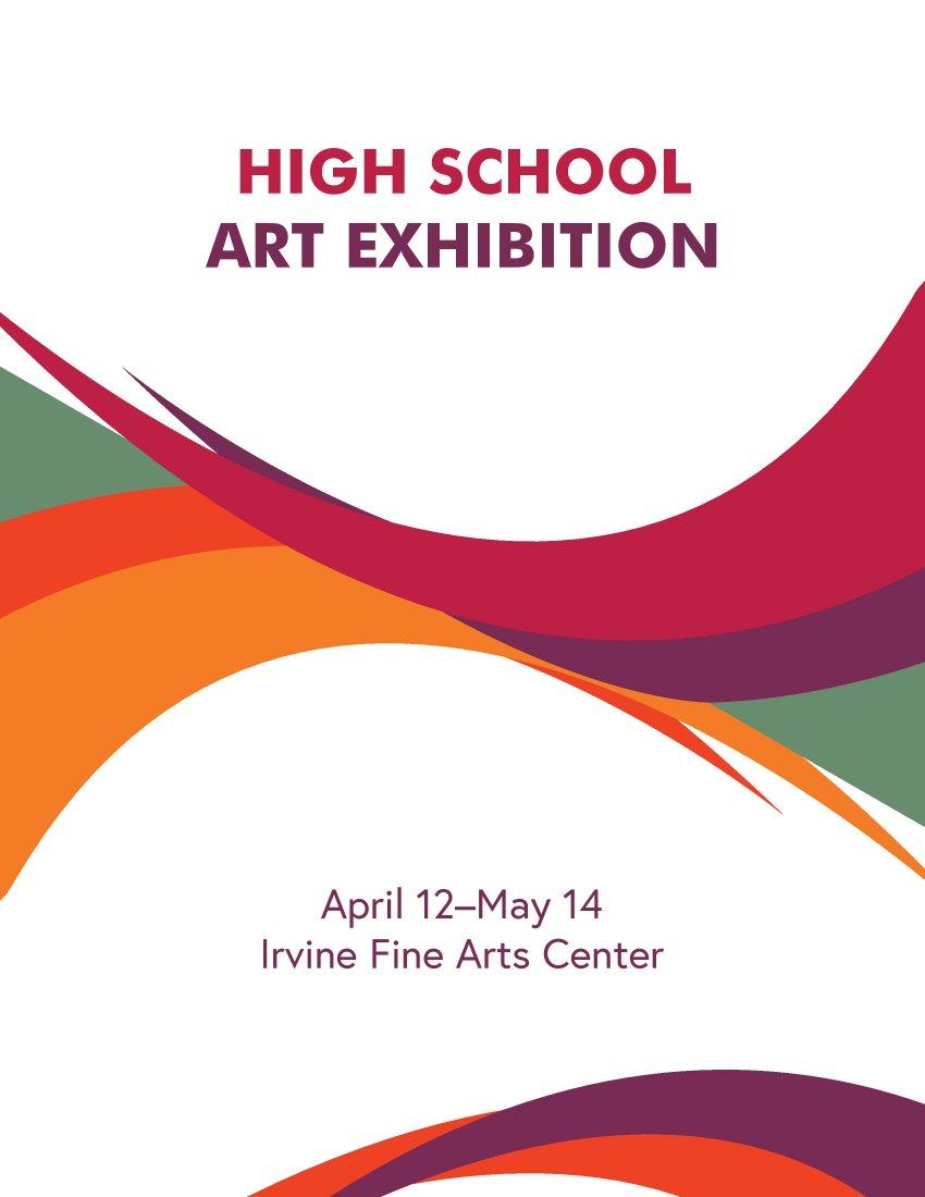 Flyer for art gallery