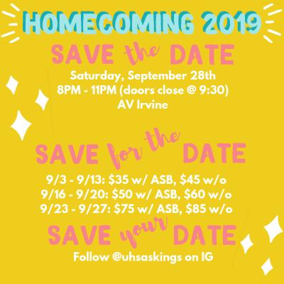 Homecoming Info!