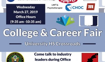2019 College and career fair poster
