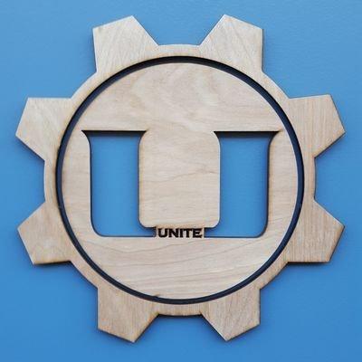 Wooden UniTE Logo
